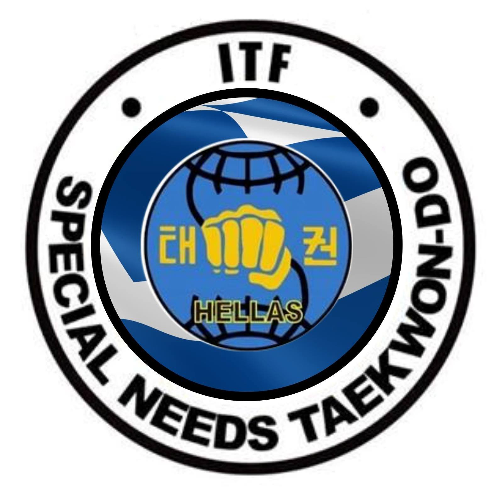 Λογότυπο International Special Needs Tae Kwon Do Hellas.